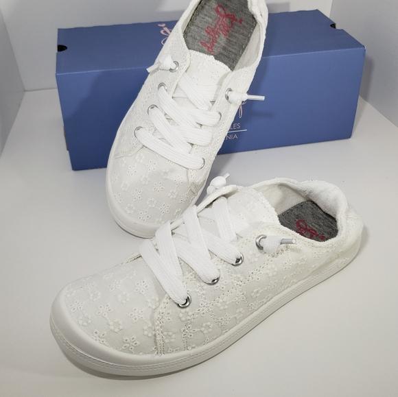 White Eyelet Canvas Sneakers   Poshmark